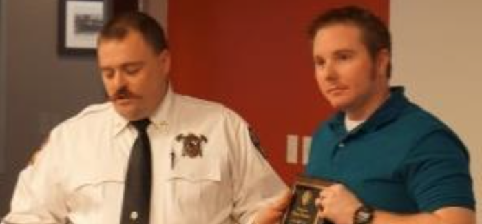 Fire Department Holds Badge Pinning Ceremony