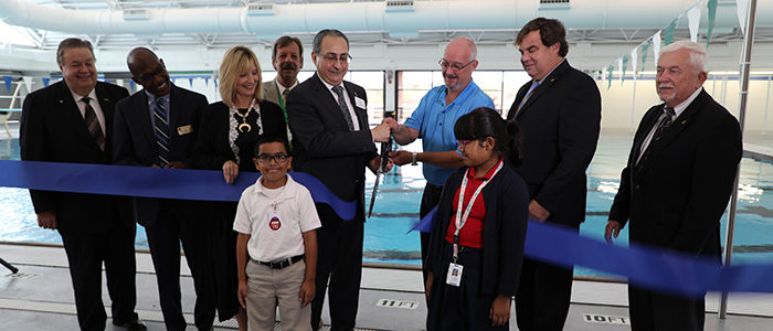 Irving ISD: Dive In! Ribbon Cutting Ceremony Held for Renovated Natatorium