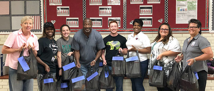 HEB ISD: Adopter Donates Supplies for Euless Junior High Teachers