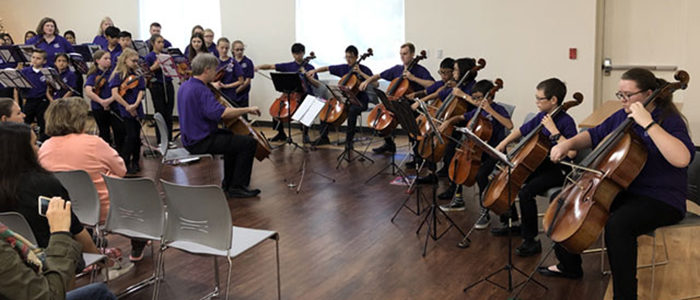 HEB ISD: Suzuki Fine Tuners Ensembles Perform at Bedford Public Library