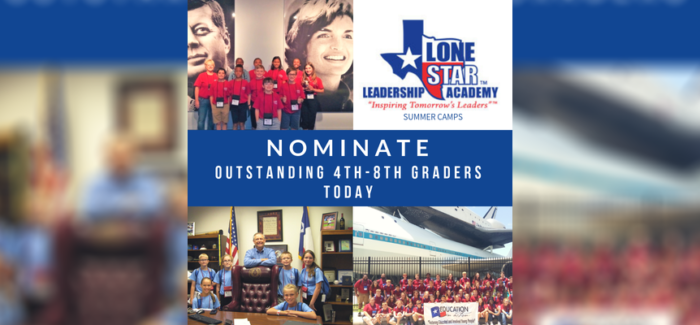 KISD: Nominate 4Th-8Th Graders For Lone Star Leadership Academy
