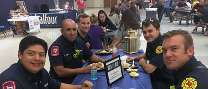 Keller ISD's community first responders are invited to enjoy a free meal at any school in the District the week of February 11-15.