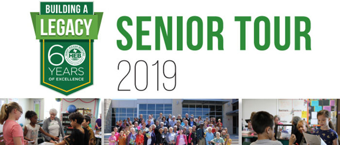 Friends 55 and Greater: You're Invited to our 2019 HEB ISD Senior Tour