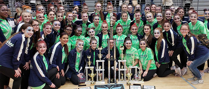NISD: Eaton Sapphires drill team earns top honors at recent state Danceline USA contest