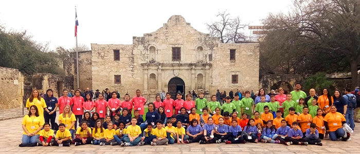 Smith Elementary fourth-graders travel on an Education in Action Discover Texas Field Trip