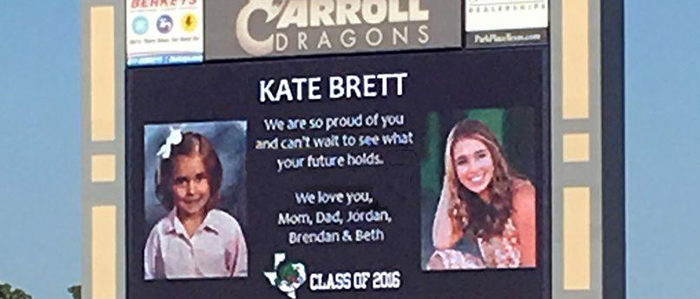 CISD: Feature Your Carroll 2019 Graduate with a Video Board Message