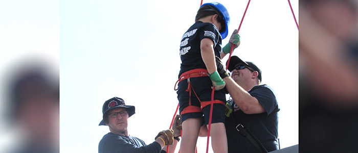 The Saginaw Fire Camp is Rappelling to Great Success in 2019!