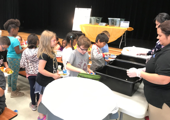 'WEIGH THE WASTE' CONTEST TEACHES STUDENTS ABOUT REDUCING FOOD WASTE