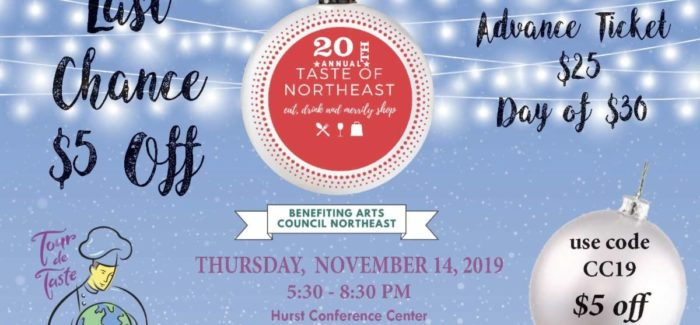 Taste of Northeast: Fabulous Food – Gorgeous Gifts – Marvelous Music Don't miss out on this evening of family fun!