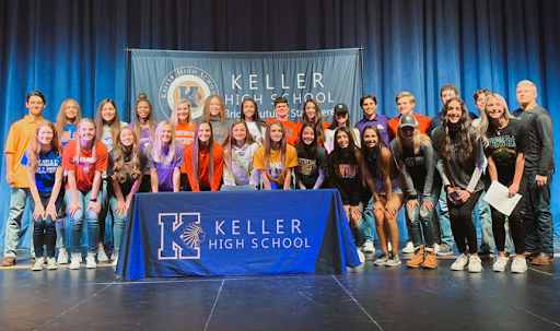 KELLER ISD STUDENT ATHLETES SIGN NATIONAL LETTERS OF INTENT