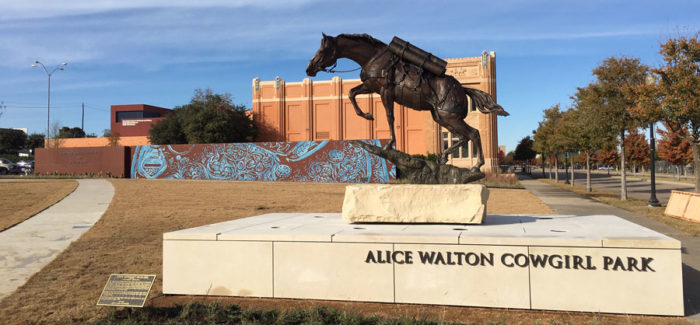 National Cowgirl Museum and Hall of Fame opens Alice Walton Cowgirl Park