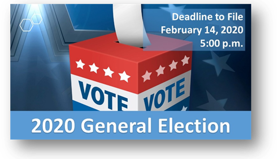Watauga – Candidate Filing Period for the May 2, 2020 General Election Friday, February 14, 2020 at 5:00 p.m.