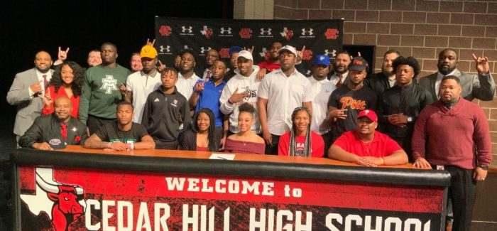 Cedar Hill ISD – 18 Scholar Athletes Participate in National Signing Day