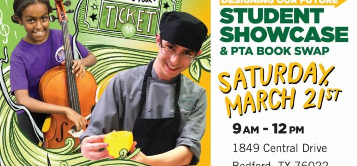 HEB ISD Student Showcase & PTA Book Swap is March 21