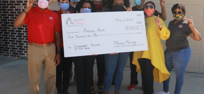 CHEF Presents Checks to CHISD  Teachers of the Year