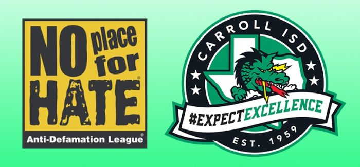 """Three Carroll ISD Campuses Earn """"NoPlace4Hate"""" Designation"""